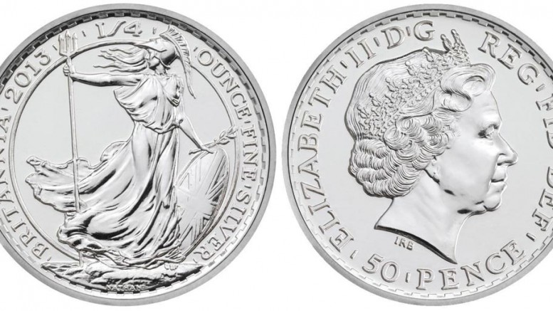 silver Investment as 50 pence coin
