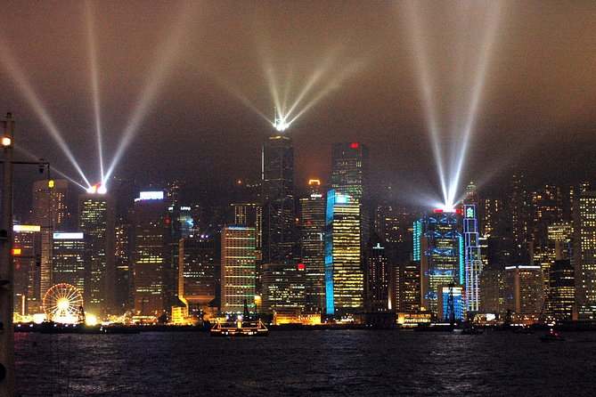 Victoria Harbour Hongkong light show